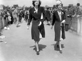 1946 - Clothing Ascot Racing Fashion - Ladies Day - Women Show of Their Style of Dress and Hat