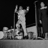 1950s Jazz Performers, Lionel Hampton, Band Leader at the Empress Hall in London