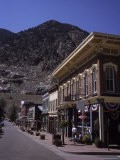 A Classic Western Downtown Street with Mountains Looming in the Back, Georgetown, Colorado