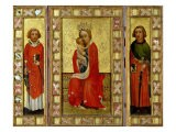 Madonna and Child with Saints Cyricus and Pancratius, circa 1380 - Aachen Master