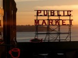 Pike Place Market and Puget Sound, Seattle, Washington State - Aaron McCoy