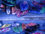 Thongs and Sandals Are Discarded as Local Dancers Practice in the Village of Timbrah, Indonesia - Adams Gregory