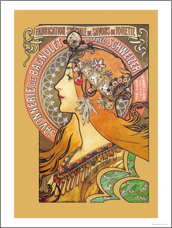 savonnerie de bagnolet alphonse mucha posters affiches d 39 art. Black Bedroom Furniture Sets. Home Design Ideas