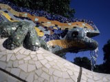 Antoni Gaudi was First to Use Recycled Construction Waste in Works, Parc Guell, Barcelona, Spain
