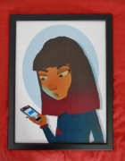 art numerique personnages girl survet football iphone nixamer : GIRLZ IPHONE