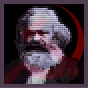 art numerique personnages le capital art contemporain optical art digital art : Karl Marx