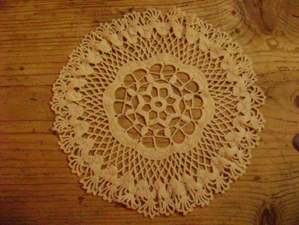 Pin napperon crochet dentelle genuardis portal on pinterest - Napperon dentelle crochet ...