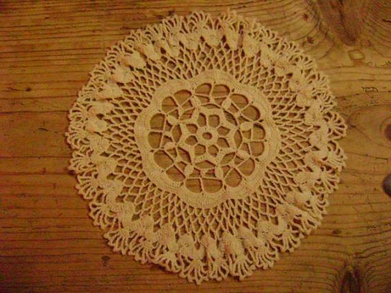 Art textile mode dentelle crochet cadeaux cadeaux napperon 3 - Napperon dentelle crochet ...