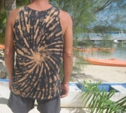 art textile mode marine debardeur tee shirt mode homme hand made tahiti : Tee shirt
