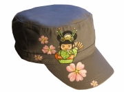 art textile mode personnages casquette kokeishi manga grise : casquette kokeishi