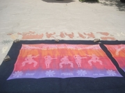 art textile mode personnages pareo tahitien danseurs tahitien hand made coton : Pareo