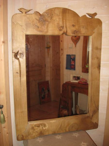 Artisanat d 39 art chalets montagne rustique tradition for Miroir rustique
