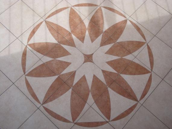 Préférence D'ART rosace motif carrelage decor - rosace en carrelage ZN77