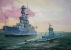 Artiste Peintre - Royal Navy à Scapa Flow