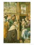 Adoration of the Magi (stained glass) - Bernardino Luini