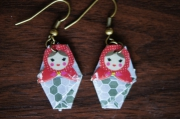 bijoux personnages boucles d oreil origami : Matryoshka