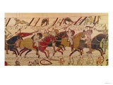 Bishop Odo Holding a Baton Urges on the Young Soldiers, from the Bayeux Tapestry