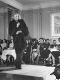 Woman Modelling a Mink Coat at the Fashion Show - Bob Landry