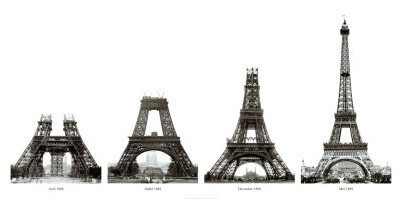 construction de la tour eiffel boyer viollet posters affiches d 39 art. Black Bedroom Furniture Sets. Home Design Ideas