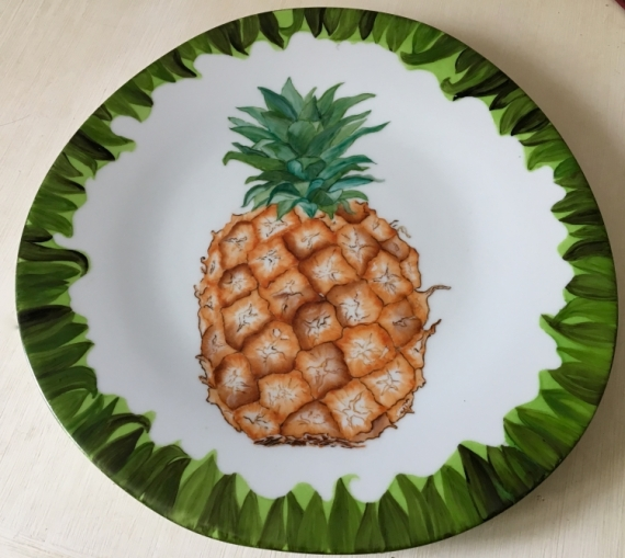 CéRAMIQUE, VERRE ananas fruits porcelaine Fruits  - Ananas