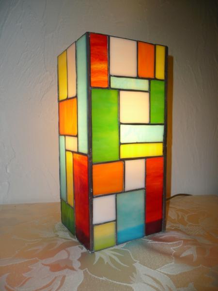 CéRAMIQUE, VERRE lampe vitrail lampe à poser - Lampe Mosaïque