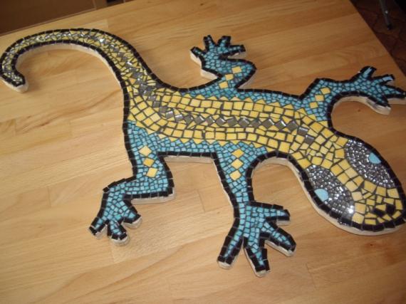 Cramique verre tableau mosaique salamandre for Miroir des modes 427