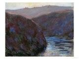 Creuse Valley, Evening, 1889 - Claude Monet