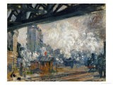 Gare St. Lazare, Seen from the Pont De L'Europe, 1877 - Claude Monet