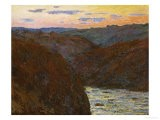 La Creuse, Sunset - Claude Monet