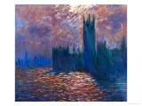 London, the Parliament; Reflections on the Thames River, 1899-1901 - Claude Monet