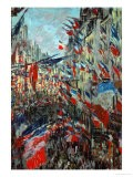 Paris, Rue St. Denis: Celebration of June 30, 1878 - Claude Monet