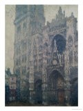Rouen Cathedral, West Portal, Grey Weather, 1894 - Claude Monet
