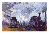 Saint Lazare Station In Paris, Arrival of a Train - Claude Monet