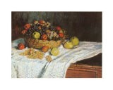 Still Life with Grapes and Fruit - Claude Monet