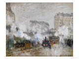 Streetside of the Gare St. Lazare, Seen Towards the Tunnel of Batignolles, 1877 - Claude Monet
