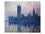 Sunset,The Houses of Parliament - Claude Monet