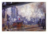 The Gare Saint-Lazare - Claude Monet