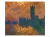 The Parliament in London, Stormy Sky - Claude Monet