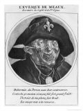 Protestant Caricature of Bossuet, Bishop of Meaux, c.1691 - Cornelis & Gole, Jacob Dusart
