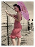 Pin-Up Girl with Parasol - David Perry