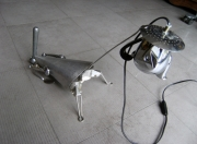 deco design animaux lampe chien metal : chinchien