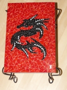 deco design animaux mosaique table dragon : Table dragon