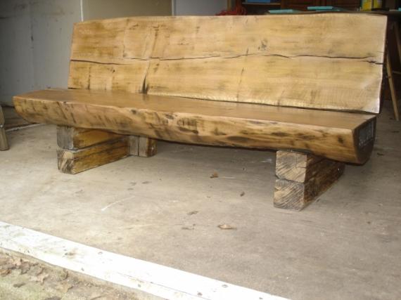 Dco design banc bois design chne banc arbre for Tronc d arbre pour decoration