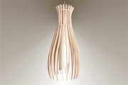 deco design fruits lampe luminaire bois suspension : Luminaires ; Lampe eco design en bois, petite FIGUE suspension