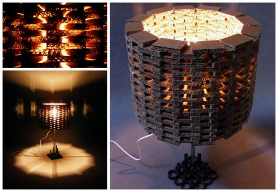 dco design lampe design carton acier lampe a poser. Black Bedroom Furniture Sets. Home Design Ideas