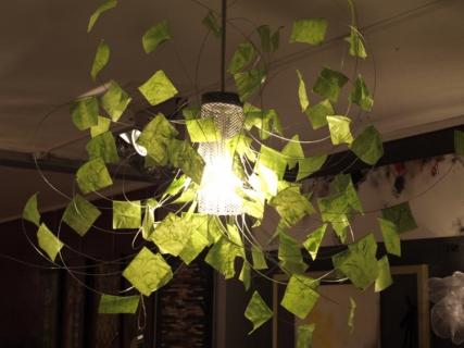 D co design lustre fil de fer papier creation piece for Lustre papier design