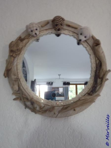 dco design miroir bois flott nounours miroir nounours. Black Bedroom Furniture Sets. Home Design Ideas