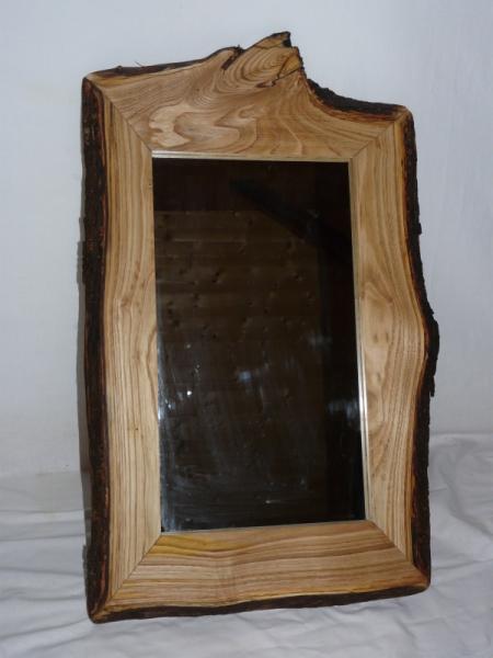 Dco design miroir original bois brut dco miroir chataignier for Grand miroir bois brut