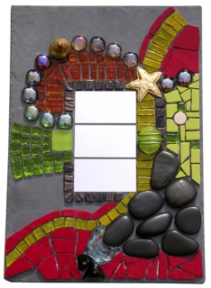 D co design mosaique tableau ardoise miroir dans tous for Miroir mosaique design