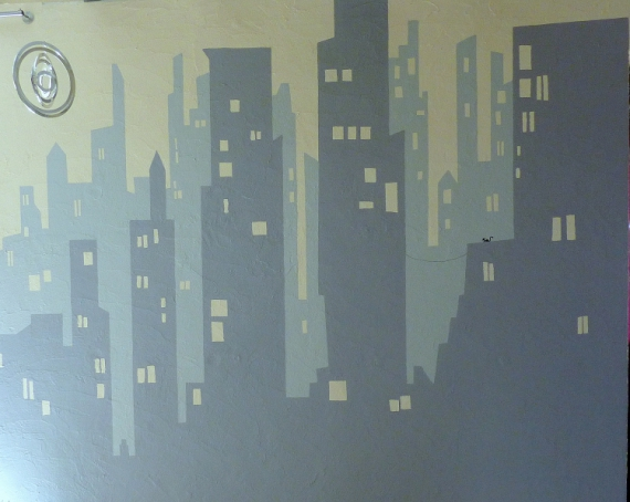 dco design new york ville gris fresque fresque murale ny. Black Bedroom Furniture Sets. Home Design Ideas